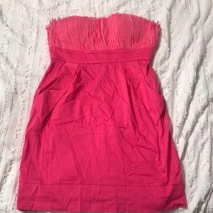 Minuet hot pink strapless dress medium